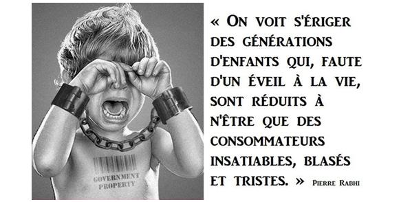 Enfant consommation esclave