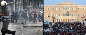 grèce émeute